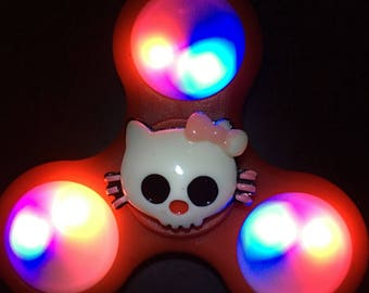 Limited Edition Custom Halloween LED Light Up Zombie Hello Kitty Fidget Spinner