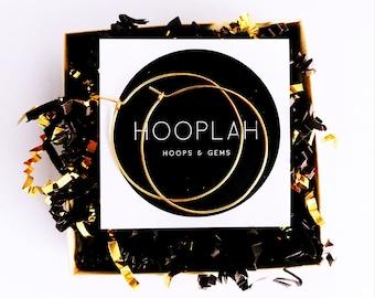 Gold Hoop Earrings / Hammered Hoop Earrings / Thin Gold Hoops