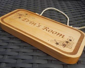Personalised children's bedroom door name plaque