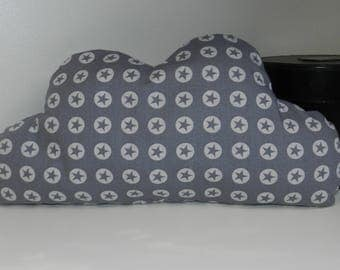 Cushion cloud pattern gray stars for a poetic and modern room decoration baby