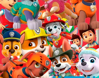 Paw Patrol 60 Clipart  -Digital-ClipArt-PNG-image-300 DPI- PNG Images-Digital Clip Art background-Paw Patrol Scrapbooking-Instant Digital