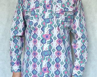 Vintage Aztec Shirt Size M