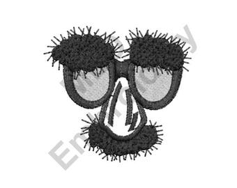 Disguise - Machine Embroidery Design, Groucho Glasses