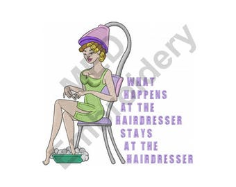 Hair Salon - Machine Embroidery Design, Hairdresser, Beauty Shop