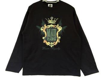 vintage maui and sons winter royalty spellout big logo crown sweatshirt size medium