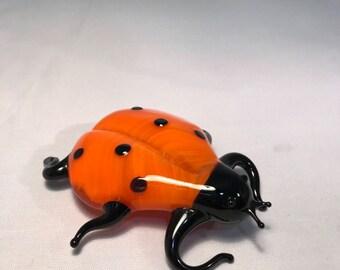 Ladybug glass figurine