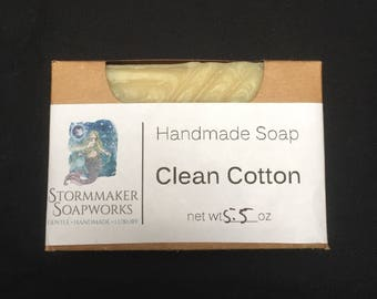 Clean Cotton, Handmade Soap, Palm Free
