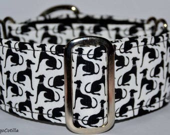 Greyhounds - Martingale collar for galgos, greyhound, dogs, adjustable, 100% cotton. El Galgo Cotilla