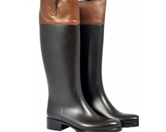 Boot style horse leather and pvc