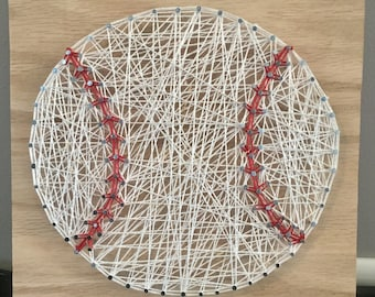 Baseball String Art Wall Decor