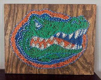 Florida Gator String Art