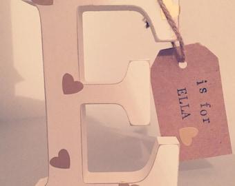 Freestanding Letter/Wooden Letter/Nursey decor/Christening Gift/Personalised Gift/Baby Gift/Baby Shower Gift