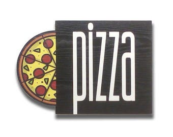 Pizza - Pizza sign, Shop sign, Wall signs, Food signs, Wooden signs, Signs kitchen, Pizza restaurant decor   Tropparoba - 100% made in Italy
