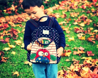 Handmade Kids daycare/ kindy bag - BLUE