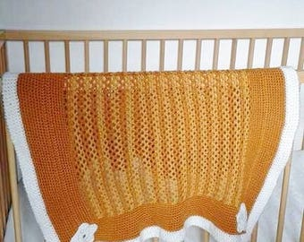 baby plaid handmade crochet
