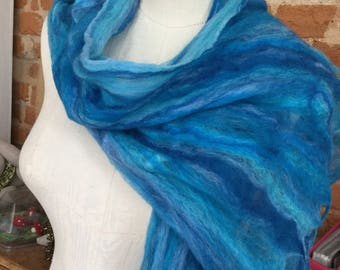 Wet felted scarf.