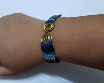 Handmade Bracelet Blue S