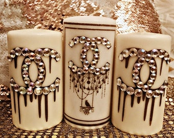 Bling dripping Chanel set