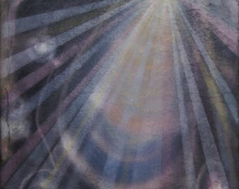 raggianze atmiche # 4, rays of the soul, spiritual art, painting