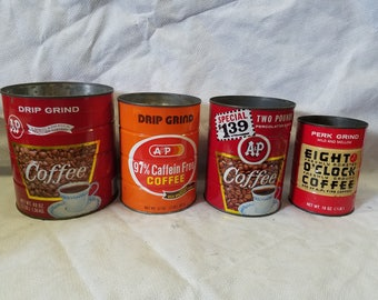 A & P Coffee Tin Collection