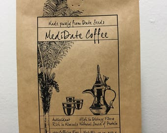 Medidate Coffee, Made Purely from Date Seeds! 12 oz