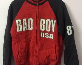 SALE ! Vintage BAD BOY usa big logo embroidery size S/M