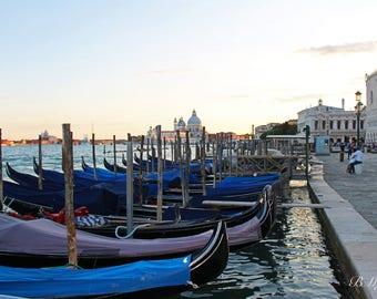 Venice Gondola's, Travel, Wall Art, Wall Decor, Italy, Photography