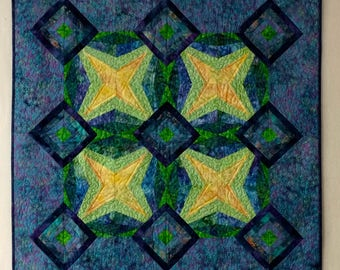 Quilted wall art modern