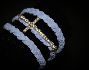 Handmade Cross Wrap Bracelets