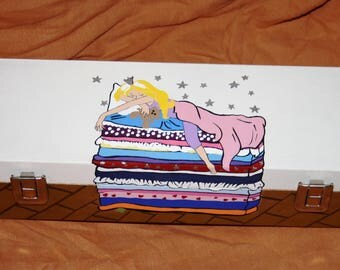 Hand Painted Princess and The Pea Box