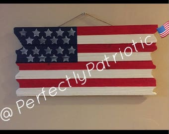 Small Distressed American Flag