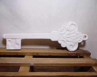 Ceramic Bisque Ready to Paint Santa Magic Key