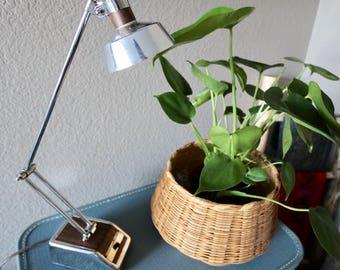 Vintage Mid-Century Modern Desk Lamp, Chrome Desk Lamp, Table Lamp