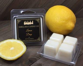 Lemon Drop Soy Wax Melts, Wax Melts, Soy Wax Melts, Soy Wax Tart, Soy Candle Melts, Wax Warmer, Scented Soy Tart, 4 Cubes
