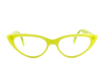 Cat eye glasses Beautiful sexy large contemporary 'BARDOT' Citrus. Handmade