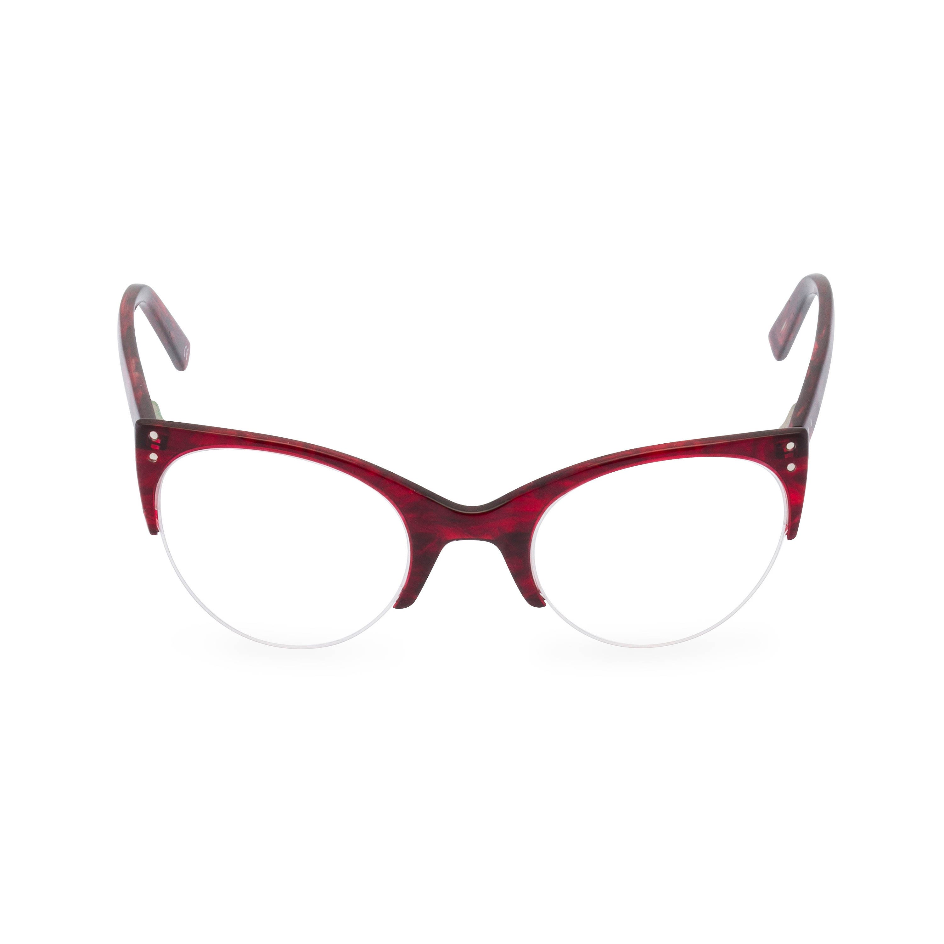 d190014c2d 1950 s style classic upswept cat eye  ELLA  in Volcano Red. Reading strength