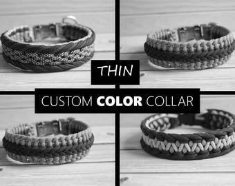 THIN Custom Color Paracord Dog Collar