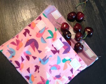 Reusable Snack Bags--zero waste--2-pack