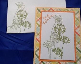 5 cards: encouraging Inspirational handmade greeting cards.
