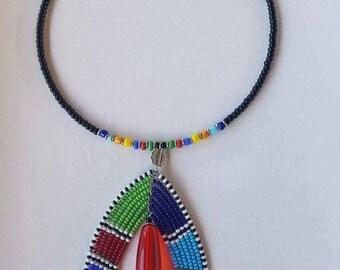 Zulu bead necklace
