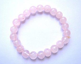 Attract Love with Beautiful Round Beaded Rose Quartz Bracelet