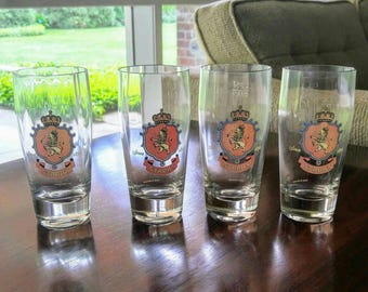 Vintage Stroh's .25 liter Rastal beer glasses - set of 4