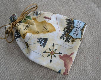 Dice Bag - World Map