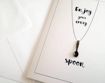Spoonie card, Spoon theory, spoonie, invisible illness, spoonie gifts, encouragement card, fibromyalgia, lupus, lupus awareness, spoon card