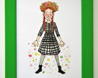 Anne of Green Gables -5x7 Giclee Print of Watercolor Art