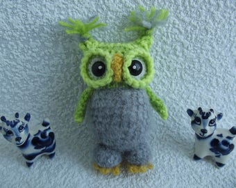 Knitted owl   Gift to her   Unique gift    Birthday Baby gift   Original owl