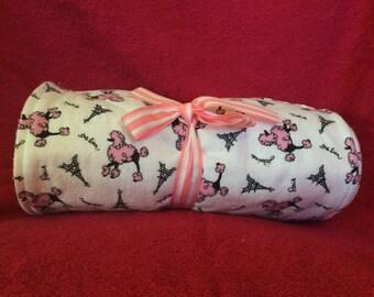 Pink Paris Poodle Unpaper Towels