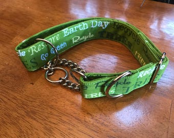 Earth Day Dog Collar