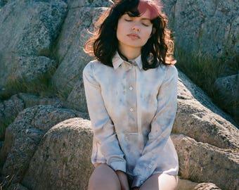 Lina Hand Painted Silk Shirt