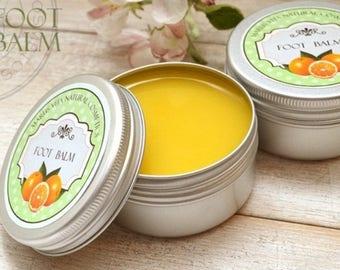 Organic Herbal Foot Balm, Plus A Gift. All Natural Herbal Foot Balm, Organic Moisturizing Cream, Vitamin A and E, Creame Handmade